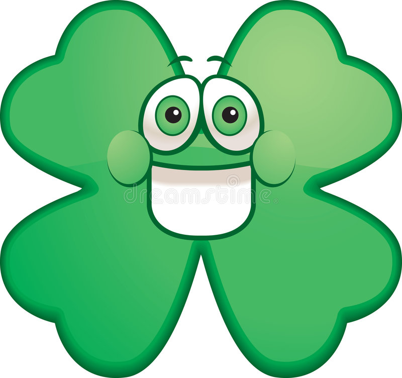 Happy Shamrock stock photography