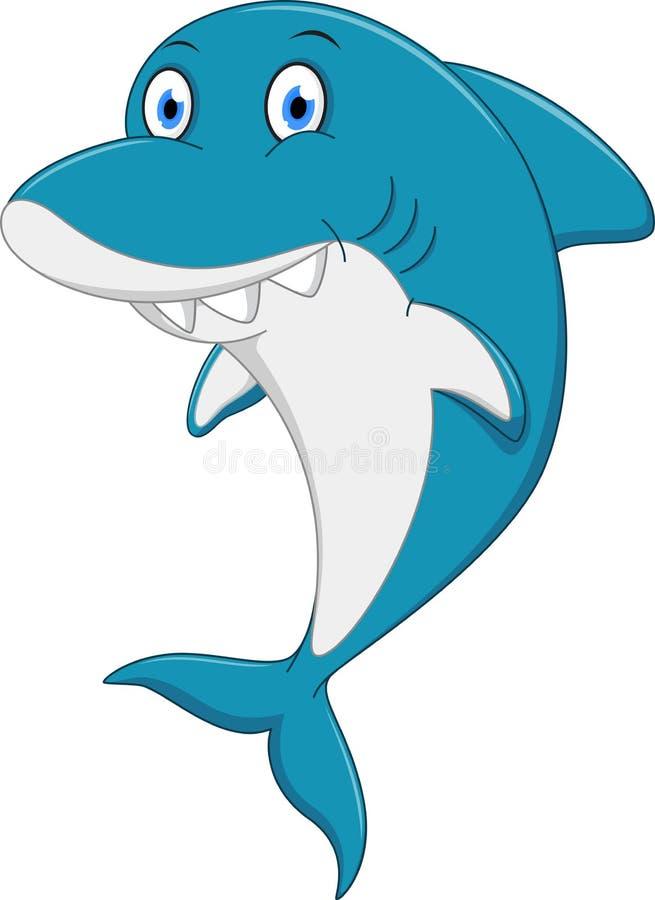Happy shark cartoon stock vector. Illustration of ...