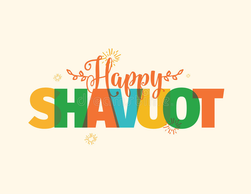 Happy Shavuot. Jewish holiday of Shavuot royalty free illustration