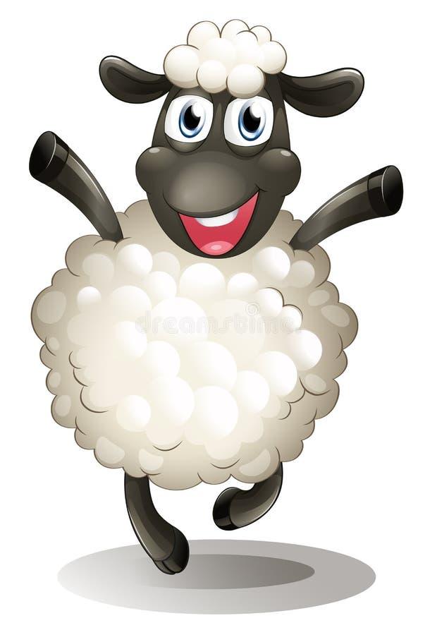 A happy sheep royalty free illustration