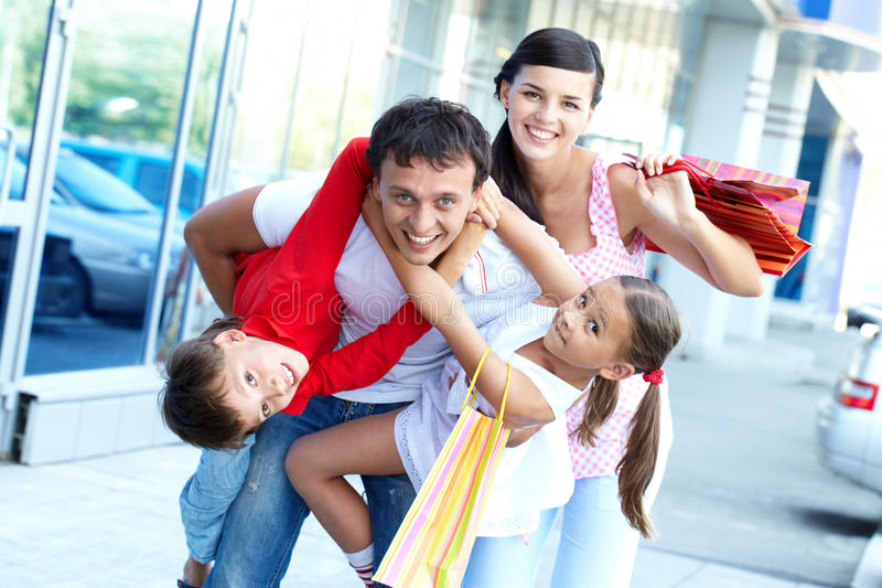 Download Happy shoppers stock photo. Image of embracing, holding - 22852554