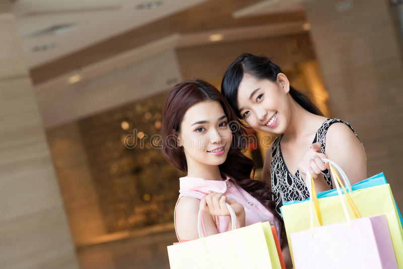 Download Happy shoppers stock photo. Image of inside, cute, asian - 28055076
