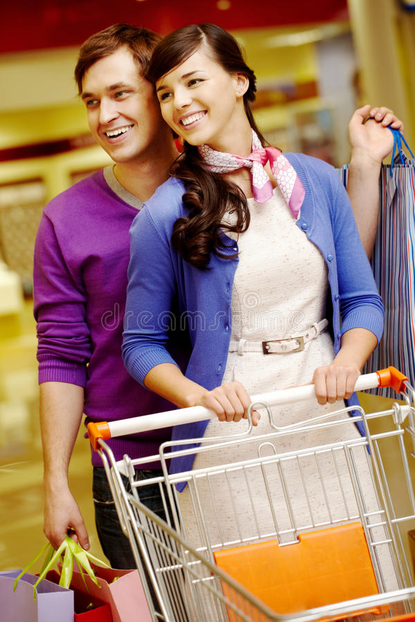 Download Happy shopping stock image. Image of female, couple, expression - 21072433
