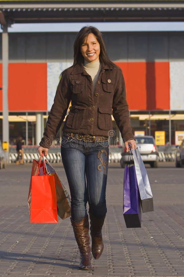 Download Happy shopping stock image. Image of fashion, gifts, luxury - 3427237