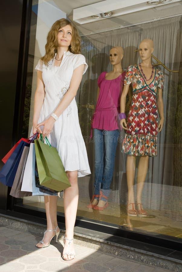 Happy shopping royalty free stock photography