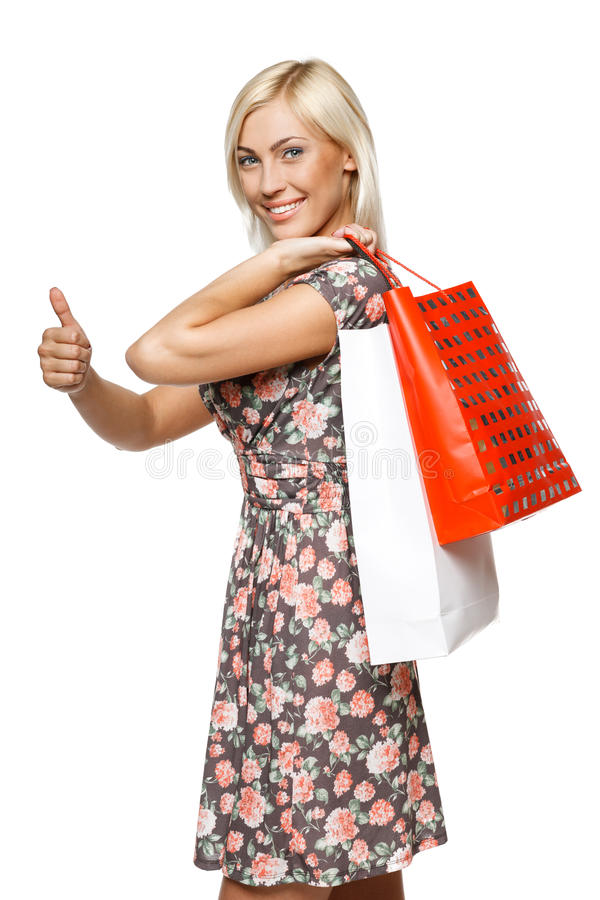 Download Happy shopping girl stock image. Image of girl, casual - 25641527