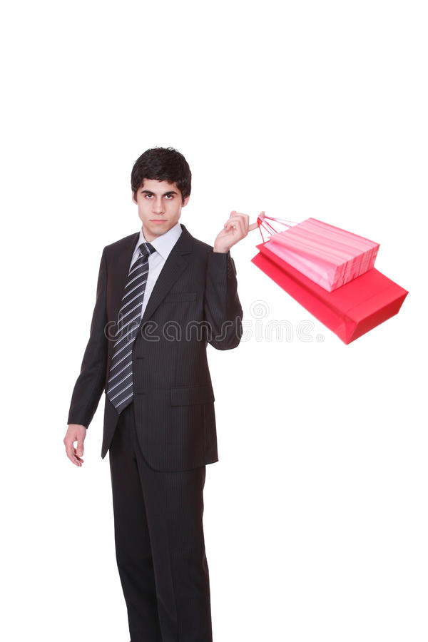 Download Happy shopping man. stock image. Image of shopping, smile - 13459861