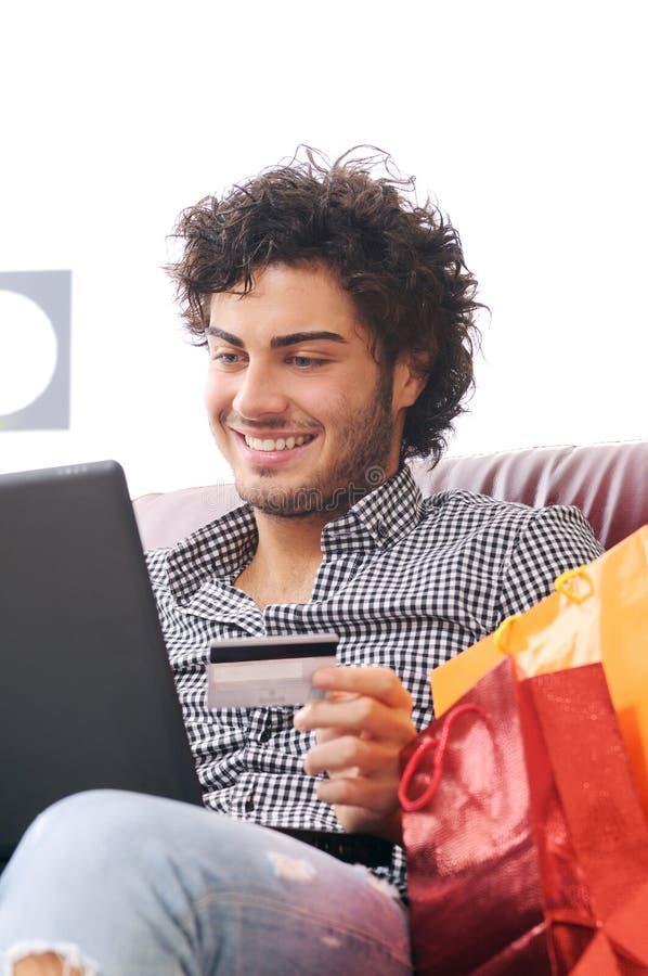 Free Happy Shopping Online Stock Photo - 8130570