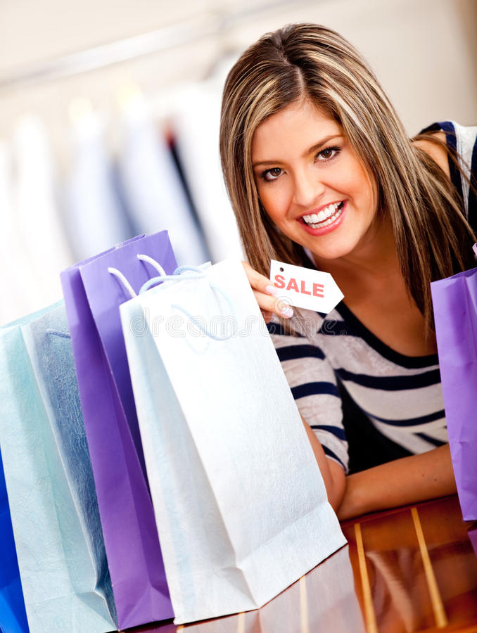 Download Happy shopping woman stock image. Image of hispanic, happy - 22886603