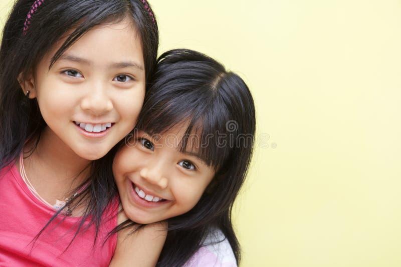 Happy sibling stock image