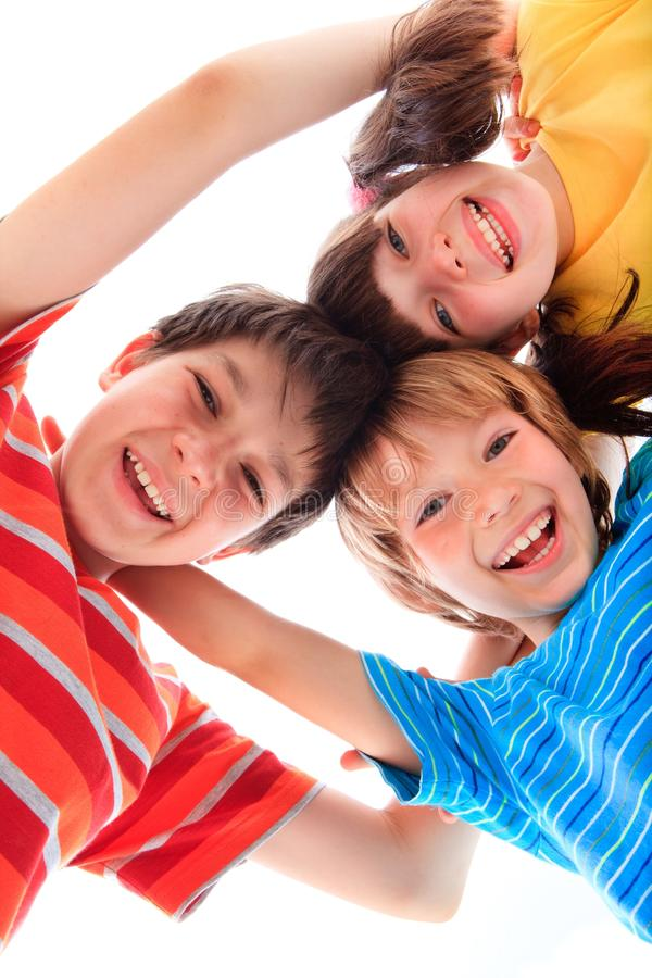 Happy siblings royalty free stock photography