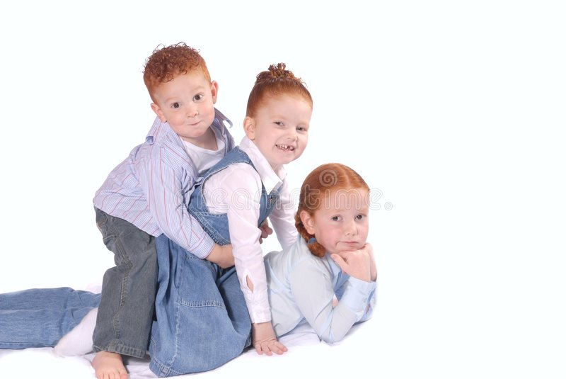 Download Happy siblings playing stock photo. Image of lovable, ginger - 1606996