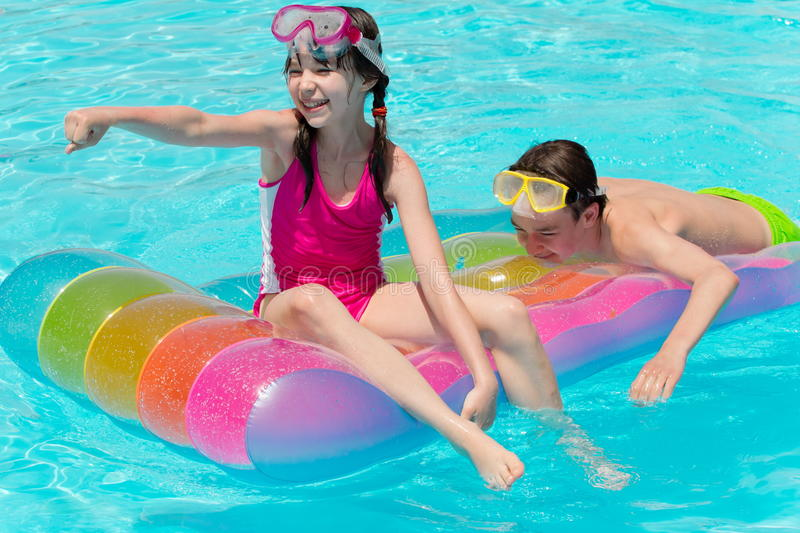 Download Happy Siblings On Raft Royalty Free Stock Photo - Image: 20336765