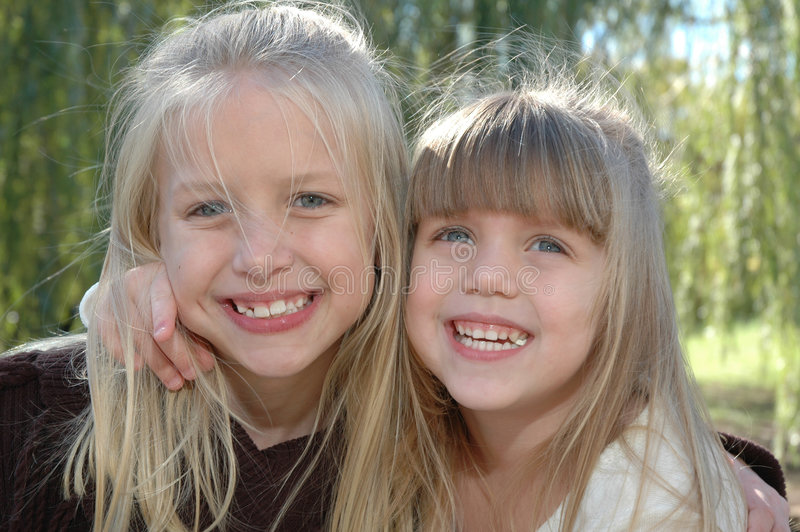 Happy Sisters royalty free stock photo