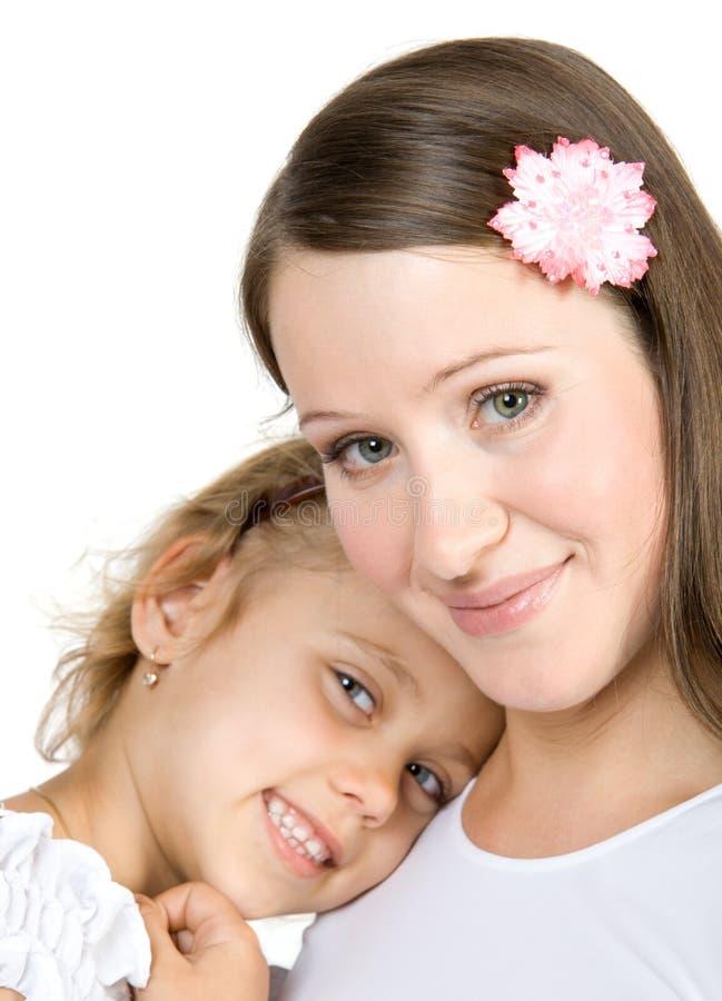 Happy sisters stock image
