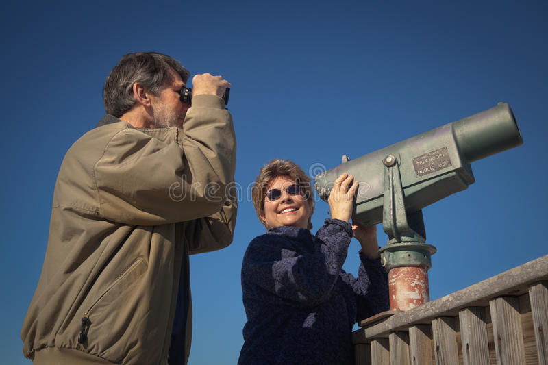 Download Happy Skywatching And Birdwatching Stock Image - Image: 12676443