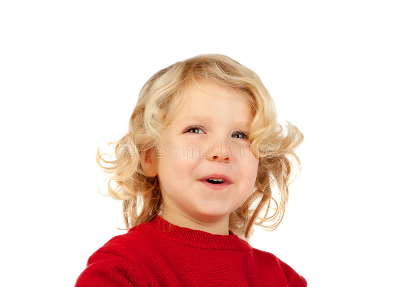Happy small blond kid stock photography