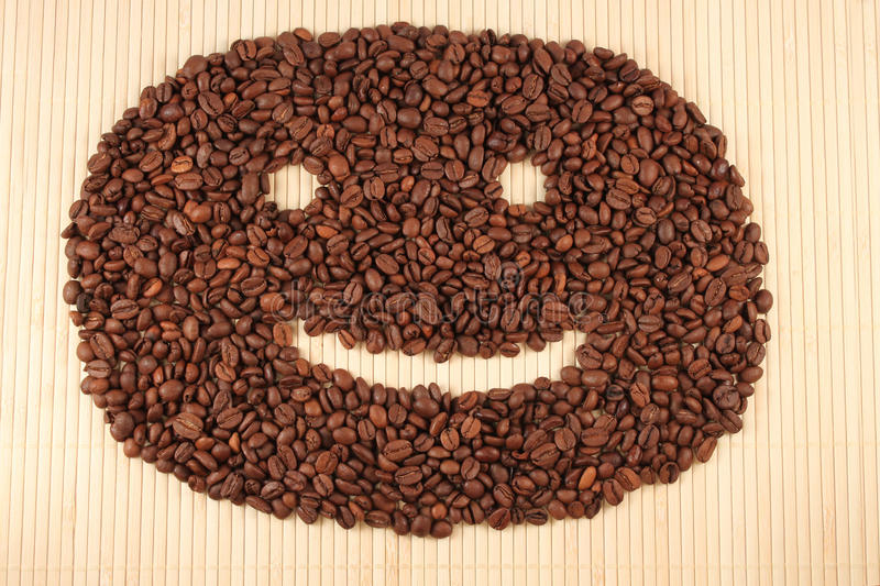 Download Happy Smile From Coffee Beans. Stock Image - Image: 12014673