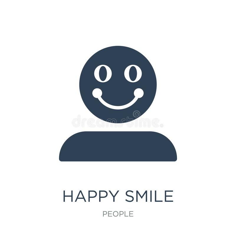 happy smile icon in trendy design style. happy smile icon isolated on white background. happy smile vector icon simple and modern royalty free illustration