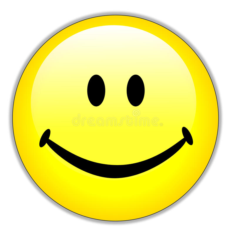 Happy smiley face royalty free illustration