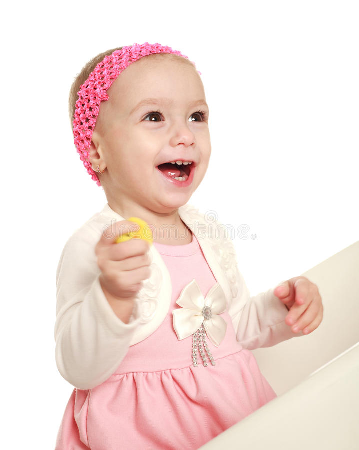 Download Happy Smiling Baby Infant In The Studio Stock Photo - Image: 29035742