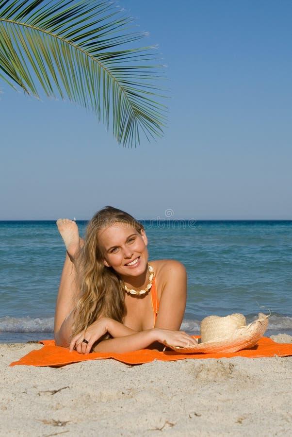 Happy smiling beautiful woman stock image