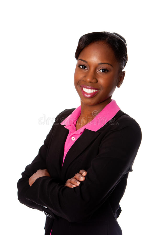 Happy smiling business woman stock photography