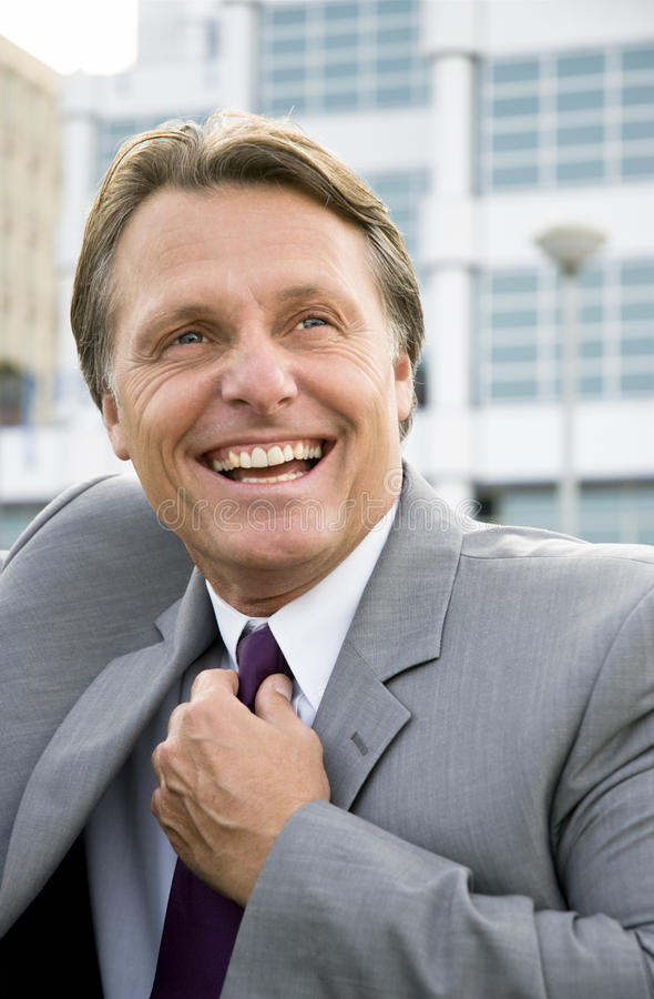 Download Happy smiling businessman. stock photo. Image of gorgeous - 9873950