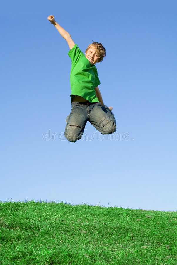 Download Happy Smiling Child Jumping Free Stock Photo - Image: 2279192