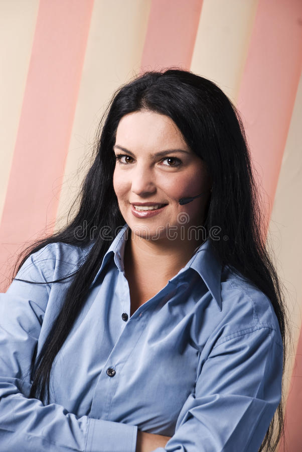 Happy Smiling Customer Support Operator Royalty Free Stock Image