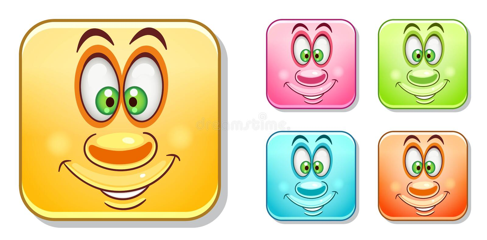 Happy Emoticons Collection royalty free stock images