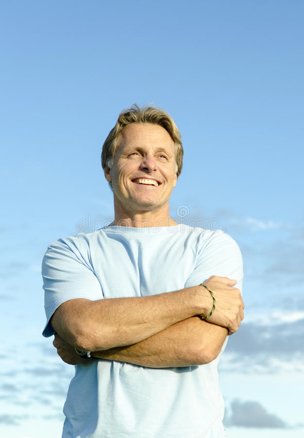 Download A Happy Smiling Forties Man Stock Image - Image: 24629693