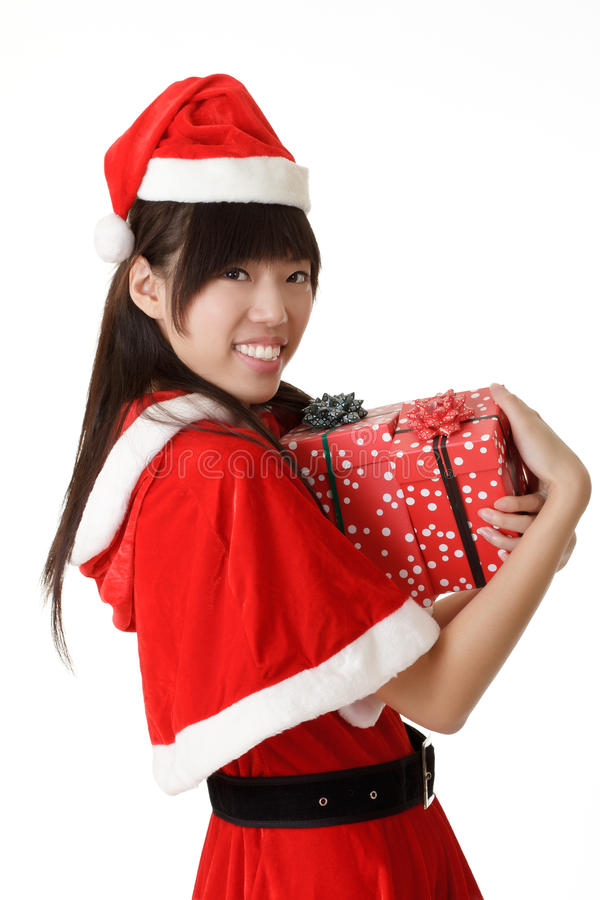 Download Happy Smiling Girl Holding Christmas Gift Royalty Free Stock Photo - Image: 16791885