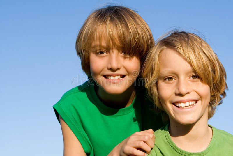Download Happy smiling kids stock image. Image of twins, contact - 4165189
