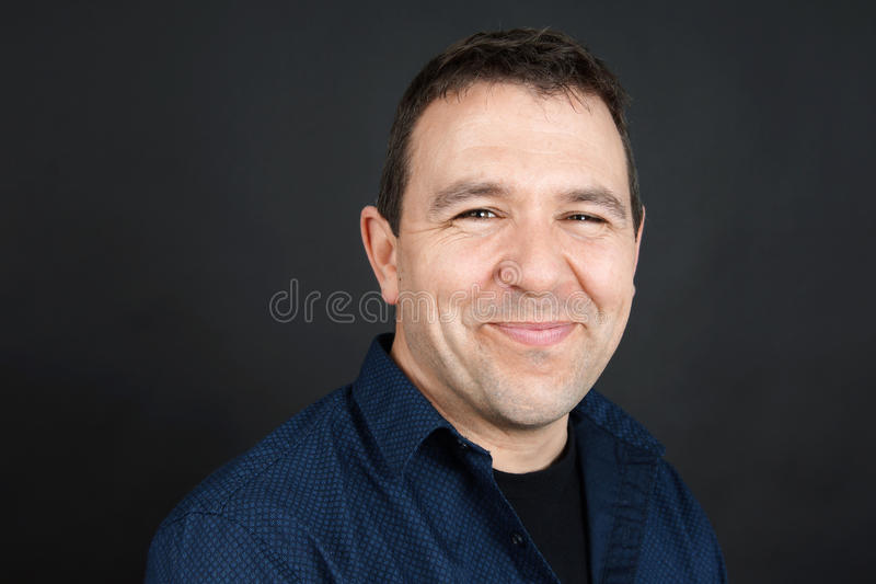 Happy smiling man stock photos