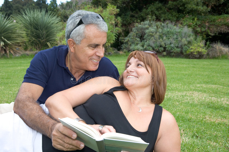 Happy smiling mature couple stock photography