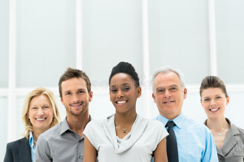 Happy smiling office royalty free stock photos