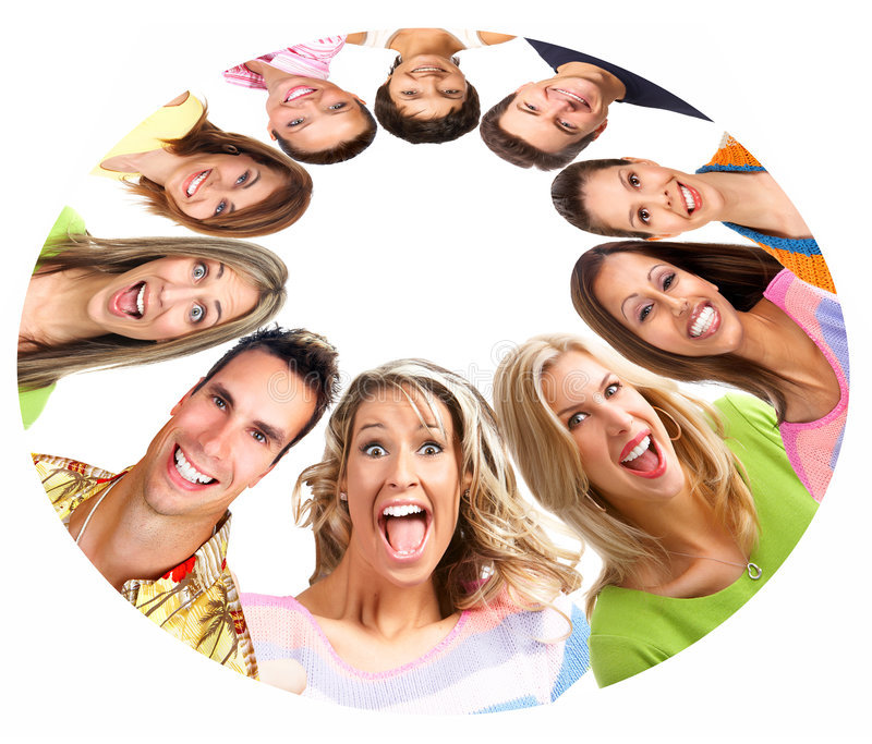 Download Happy smiling people stock photo. Image of people, company - 8260874