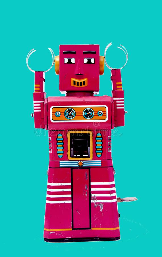 Happy chat bot royalty free stock photo