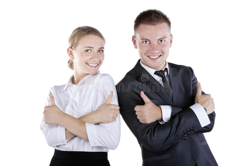 Download Happy Smiling Successful Gesturing Businesspeople Stock Photography - Image: 23419632