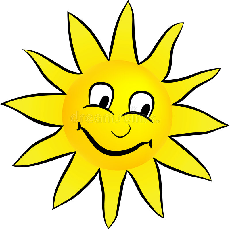 Happy smiling sun royalty free illustration