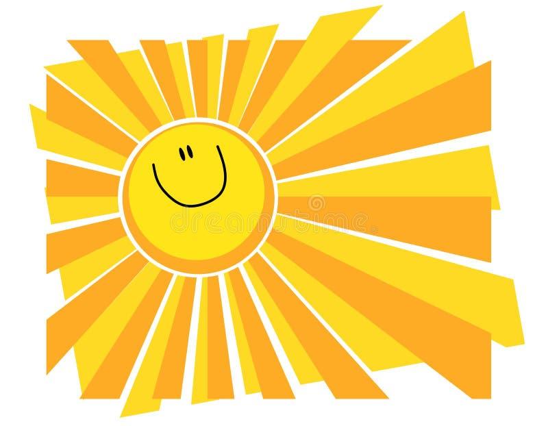 Happy Smiling Sun Summer Background royalty free illustration