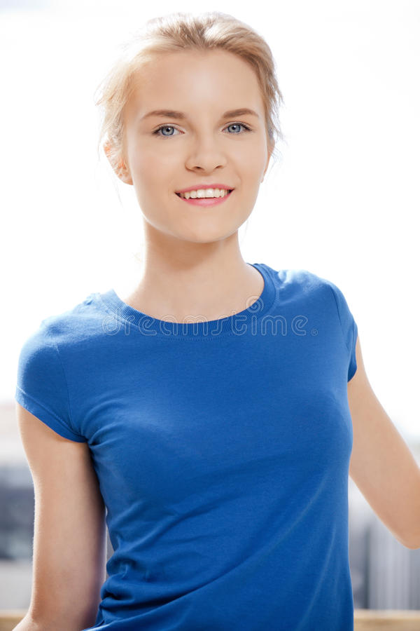 Download Happy And Smiling Teenage Girl Stock Photo - Image of beauty, looking: 39513864