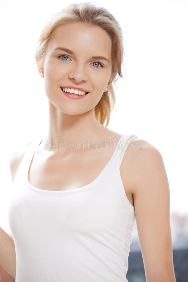 Download Happy And Smiling Teenage Girl Stock Photo - Image of human, attractive: 39513870