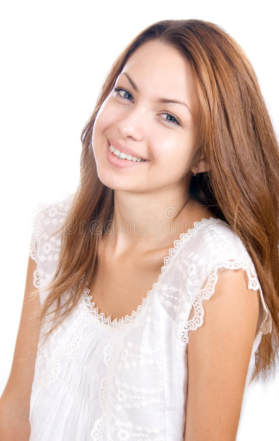 Happy smiling teenager stock image