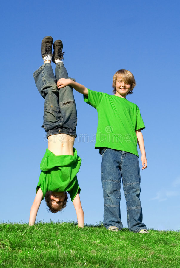 Download Happy smiling twins stock image. Image of summer, togetherness - 2310915