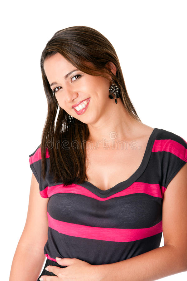 Download Happy smiling woman stock photo. Image of woman, isolated - 15024238