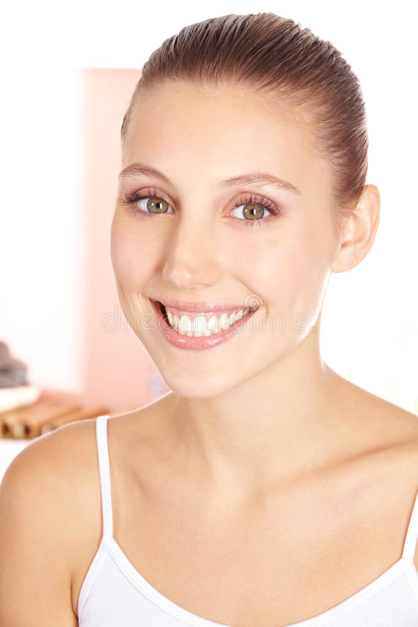 Happy Smiling Woman In Beauty Salon Stock Images