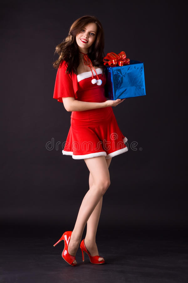 Download Happy Smiling Woman In Red Xmas Costume Stock Photos - Image: 17244143