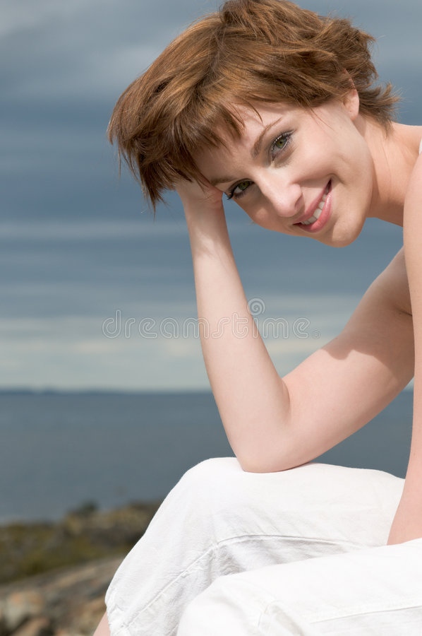 Download Happy, Smiling Young Beautiful Woman Outdoors Stock Photo - Image: 9198386
